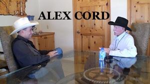 ALEX CORD WESTERN TRAILS TV Talk SHOW Bob Terry