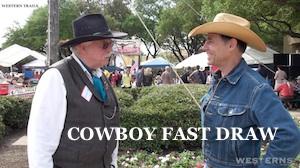 COWBOY FAST DRAW Association Western Trails TV talk show